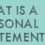 Getting Personal in Your Personal Statement